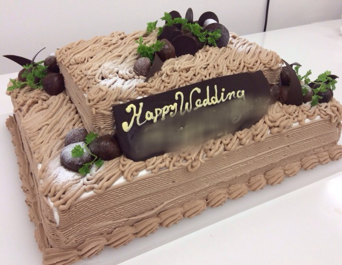 モンブランウエディングケーキ