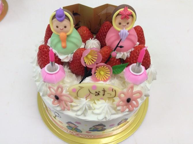 お雛様ケーキ