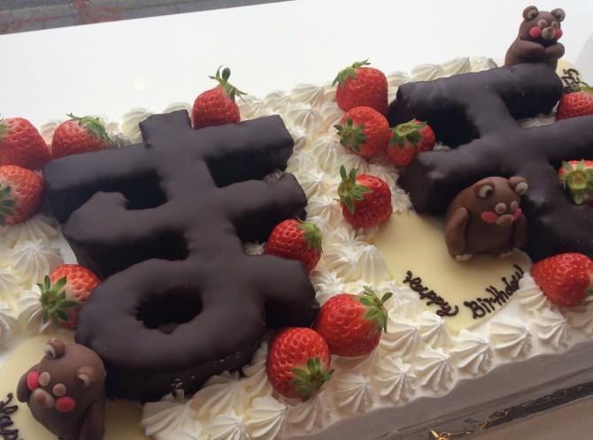 くまモンのお誕生日ケーキ