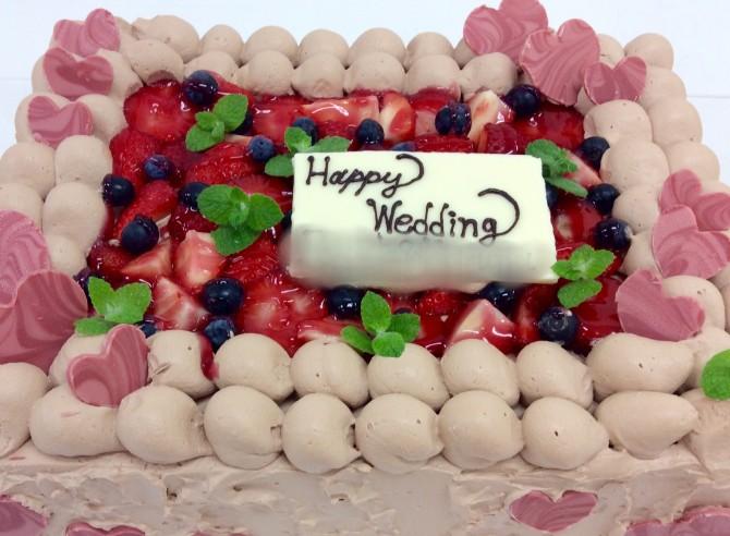 生チョコウエディングケーキ