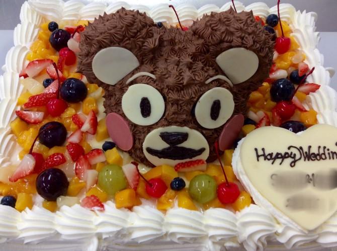 くまモンウエディングケーキ